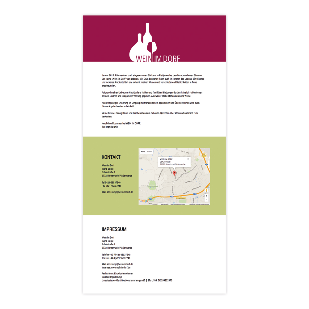 Wein im Dorf – Webseite
