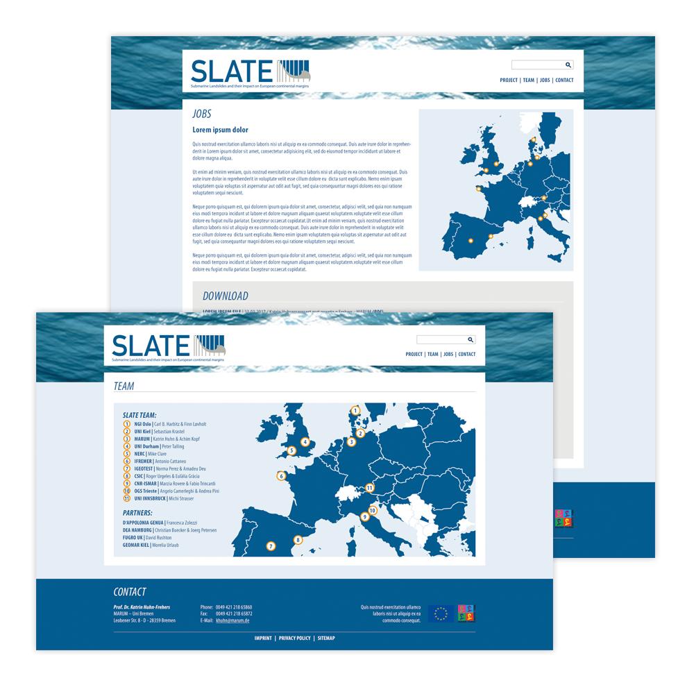 Webseite Slate - EU Projekt