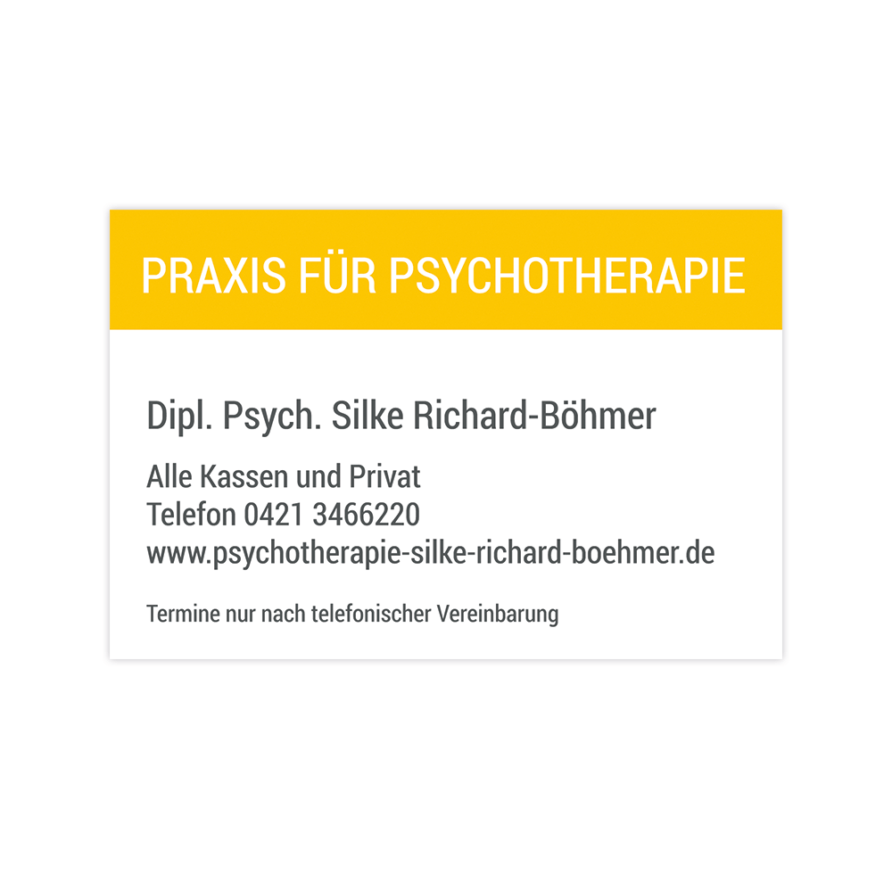 S. Richard-Böhmer – Visitenkarten
